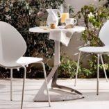 Sedia Basil in metallo e legno